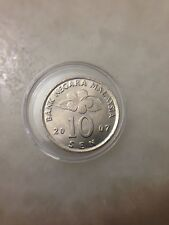 (JC) 10 (Ten) sen (cents) 2007 Malaysia 2nd series Bunga Raya coin - UNC/BU