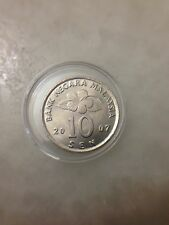 (JC) 10 (Ten) sen (cents) 2007 Malaysia  Bunga Raya coin - UNC/BU