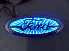 NEW Chrome &  BLUE LED Oval Badge Emblem Lamp For FORD™ Free Ship