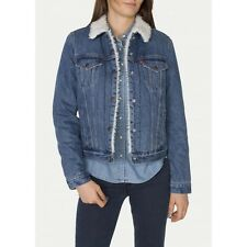 Levi's® Sherpa Movin n Shakin Trucker warm lined -Women Denim jacket  Size S~NWT