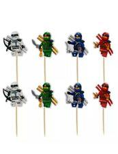 Lego ninjago Themed Cake Toppers Cake Decorations Cupcake Picks X24