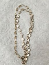 """Very Pretty Vintage 925 Silver Daisy Chain Necklace 16"""" 6.4g"""