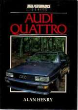 AUDI QUATTRO, ALAN HENRY, NEW 1984 HARDBOUND CAR BOOK ON SALE $35.88 low priced