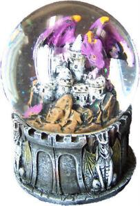 DRAGO DI AVALON palla di neve statua fantasy modellino gioco gdr dragon gotico
