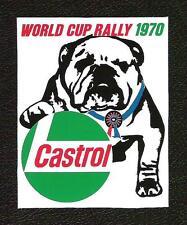 Castrol World Cup Rally 1970 Sticker, Bulldog, Vintage Sports Car Racing Decal