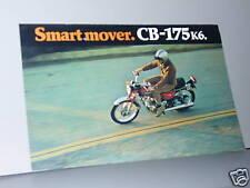 1972 Honda CB175 K6 SUPER SPORT Motorcycle Sales Lit