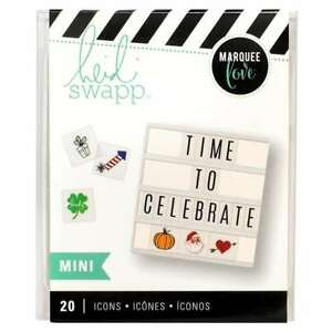 American Crafts Holiday 20 Piece Heidi Swap Lightbox Mini Icon Inserts - 4-Pack