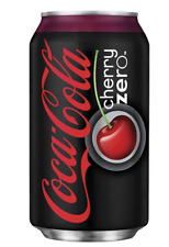 Coca Cola Cherry Zero Fridge Pack Cans, Coke Soft Drink Soda12oz (48 PACK), NEW!