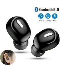 Mini Wireless 5.0 Bluetooth Headset With Mic  Stereo Earbuds For Iphone Android