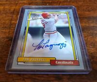 TOM PAGNOZZI AUTO ON CARD NUMBERED #/99 #FFA-TP 2020 TOPPS ARCHIVES CARDINALS