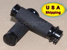 "Black 1"" Handle Bar Hand grips For Harley Davidson Road King Softail Custom USA"