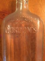 Vintage Gordon's Linden New Jersey Gin Liquor Bottle-Clear-16 Ounce