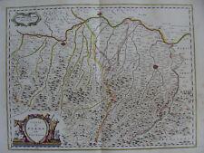 MAPPA DUCATO DI PARMA E PIACENZA 1640 EMILIA ROMAGNA CREMONA TREBBIA CHIAVENNA