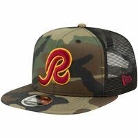 Throwback Washington Redskins Mesh 9Fifty Snapback Cap wood