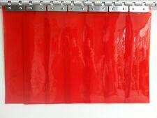 PVC plastic door strips curtain door   2.1m(H) x 1.025m(W) Red 125mm/2mm