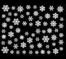 Accessoire ongles, nail art , Stickers noël : flocons de neige blancs