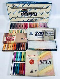 Grumbacher Soft Pastels Alphacolor Royal  - 114 Pieces/Colors - Vintage (00/C)