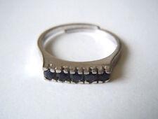 835 Silber Ring mit 5 x Saphir Gr. 55 / 2,5 g