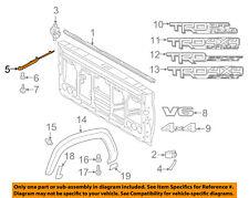 TOYOTA OEM 16-18 Tacoma Pick Up Box Bed-Rear Molding Right 7563204030