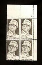 US Stamps #1874 ~ 1981 EVERETT DIRKSEN 15c Plate Block MNH