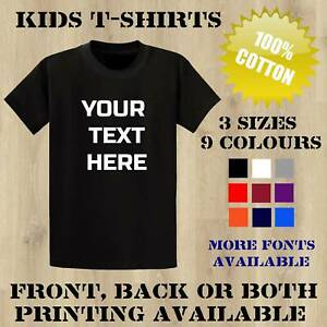 Kids Child Personalised Custom Printed T Shirts Fun Birthday Name Event School