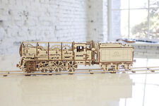Ugears Locomotive 3d Puzzles For Adults Wooden Brain Games Steam Engine Kit