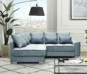 Ecksofa Ralf Eckcouch mit Bettkasten und Schlaffunktion Wohnzimmer Best Sofa