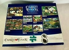Charles Wysocki Collectors Edition 8 Puzzles 150 - 500 Pieces Jigsaw COMPLETE