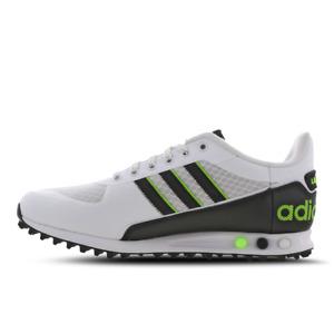 ADIDAS LA TRAINER II * WHITE / GREEN / BLACK * FX3535 * UK 9.5