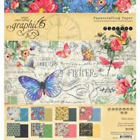 GRAPHIC 45 ~ FLUTTER ~ 8x8 Paper Pad