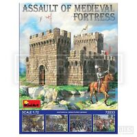 Miniart Assault of Medieval Fortress 1:72 Castle Includes Figures Model Kit