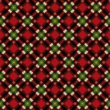 "Thin Quarter Red, Green and Gold Christmas Plaid Print fabric - 4254M 10"" x 44"""