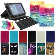 For Walmart Onn Surf Tablet 7-in Universal Leather Case Cover Wireless Keyboard
