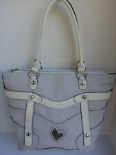NEW AUTHENTIC Guess WHITE Thurman  Bag Purse Handbag TOTE LARGE SHOPPER  NWT
