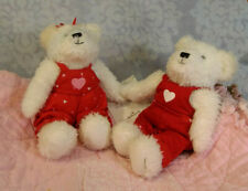 2004 Hallmark Blushing Bears Plush Pair Kissing Teddy Magnetic 32411