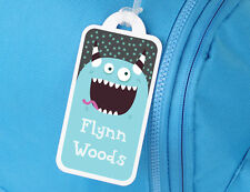 Goofy Blue Monster Personalised Bag Tag for Luggage or School - Bright Star Kids