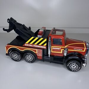 Vintage KENWORTH 24 HR TOWING TOW TRUCK 1981 Buddy L. Corp. EXCELLENT CONDITION