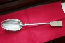 EXETER,1856 ENGLISH PROVINCIAL SILVER BASTING SPOON BY JAMES & JOSIAH WILLIAMS.