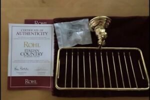 Rohl A1493 Inca Brass Country Bath Wall Mount Soap Basket