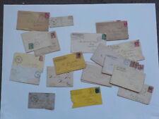 22 Antique Covers Envelopes 1800s Collection Stamp Cancels Lot VTG Postal Paper