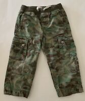 Hanna Andersson Boys GREEN Camo Cargo Pull-on Pants Size 90 (3T)