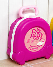 pink Baby kids girl Toddle travel portable carry plastic potty training no leak