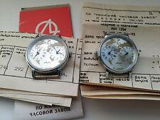 Very Rare USSR Watch LUCH QUARTZ NOS Railroad Traveller Dual Time Serviced