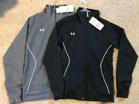 Under Armour UA Team Women's Pregame Woven Jacket 1239020 Black or Grey XS M $55