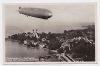 Foto AK Luftschiff Graf Zeppelin Friedrichshafen Stempel Besichtigung Airship