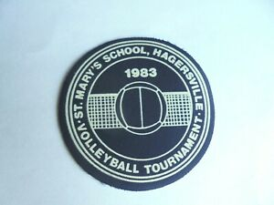Cool Vintage 1983 St Mary's School Hagersville Volleyball Tournament Cloth Patch