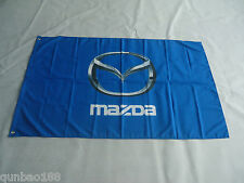 Brand New Mazda Flag Car Racing Banner Flags 3ft x 5ft 90x150cm Blue