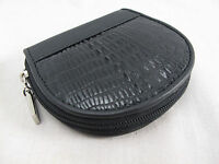Genuine Crocodile Skin Leather Women Zip Coin Purse Wallet Black + Free Shipping
