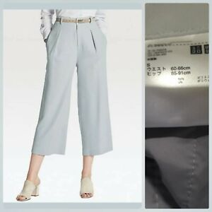 UNIQLO DRAPE WIDE LEG ANKLE PANTS like new non stretch S on tag