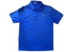 NIKE Golf Polo Shirt Size Large Royal BLUE   Dri-fit Smart Short Sleeve Plain